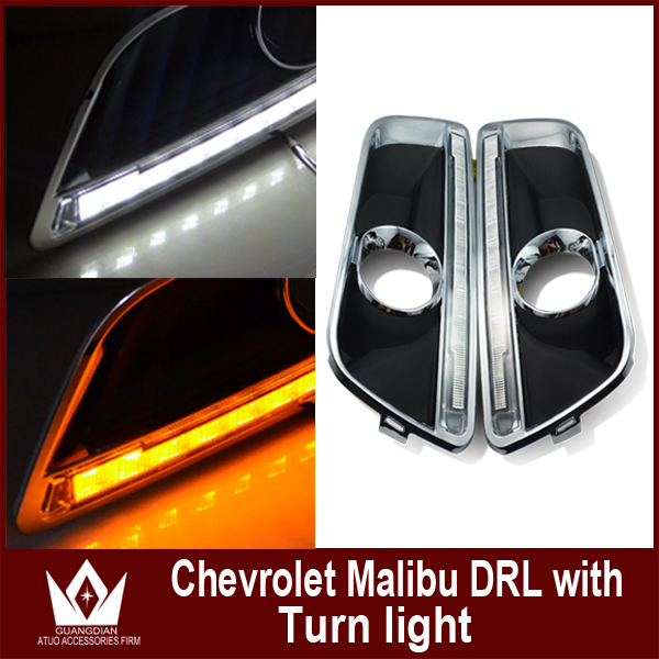 ФОТО Night lord Special Car Design for Malibu Daytime running light for Malibu drl With turnlight function Free shipping