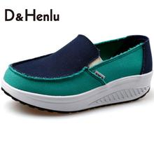 {D&H}Swing Wedges Height Increasing Fashion Women Casual Shoes Spring/Autumn Women's Vulcanize Shoes Flats Shoes Woman