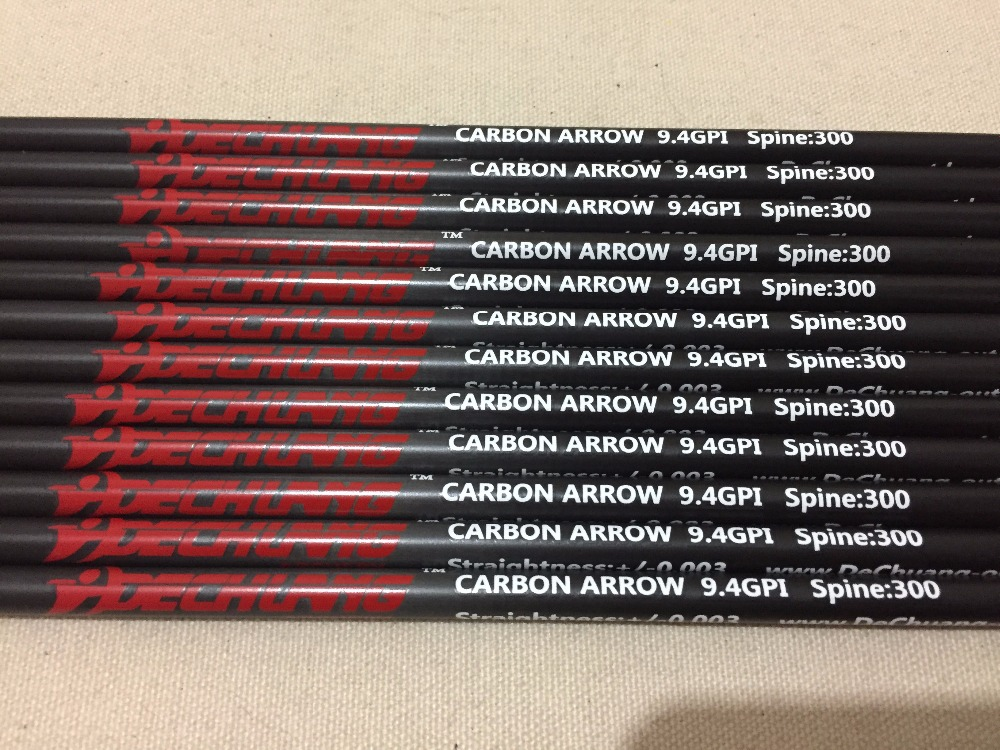 Carbon arrow shaft 100% pure carbon arrow spine300/340/400/500/600 ID6.2mm for compound bow archery and hunting free shipping 12 archery carbon arrow spine300 340 400 500 600 fluorescent yellow shaft compound bow shoot id6 2mm protect ring nock
