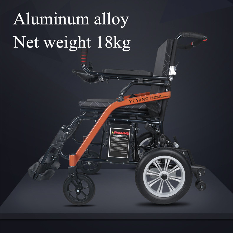 18kg including the battery Portable Foldable Electric font b Wheelchair b font for font b Disabled