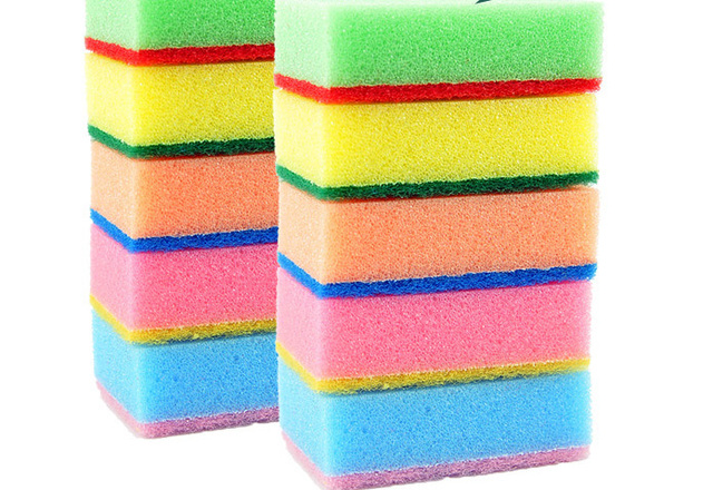 6ef9fe0a1 10pcs Sponge Cleaner Kitchen Tools Washing Dishes Or Ceramic Tile Super  Decontamination Household Cleaning Multicolor