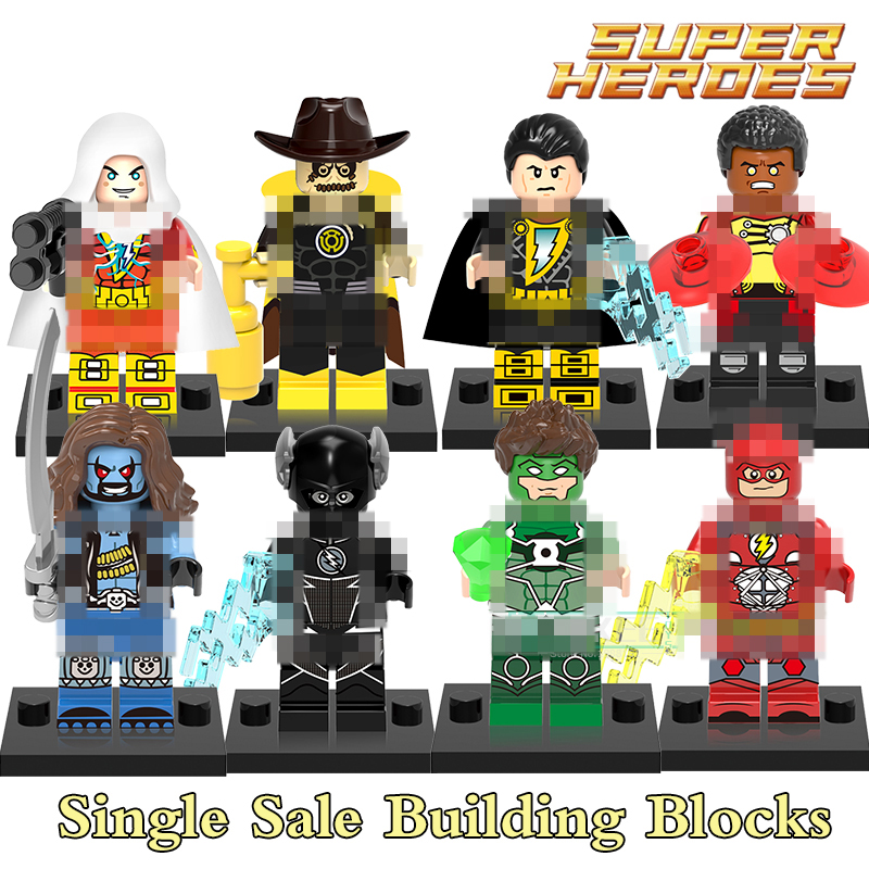 Building Blocks X0153 Black Flash Adam Shazam Lobo Firestorm Figures Super Heroes Star Wars Action Bricks Kids DIY Toys Hobbies building blocks the walking dead figures rick negan carl daryl star wars super heroes set assemble bricks kids diy toys hobbies
