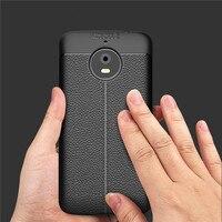 Luxury High Quality Dermatoglyph TPU Soft Leather Silicone Case For Motorola Moto E4 Plus Phone protection Cases