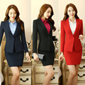 Novelty Fashion Professional Formal OL Styles Blazer Suits With Jackets And Skirt For Ladies Office Work Wear Uniforms Blazer