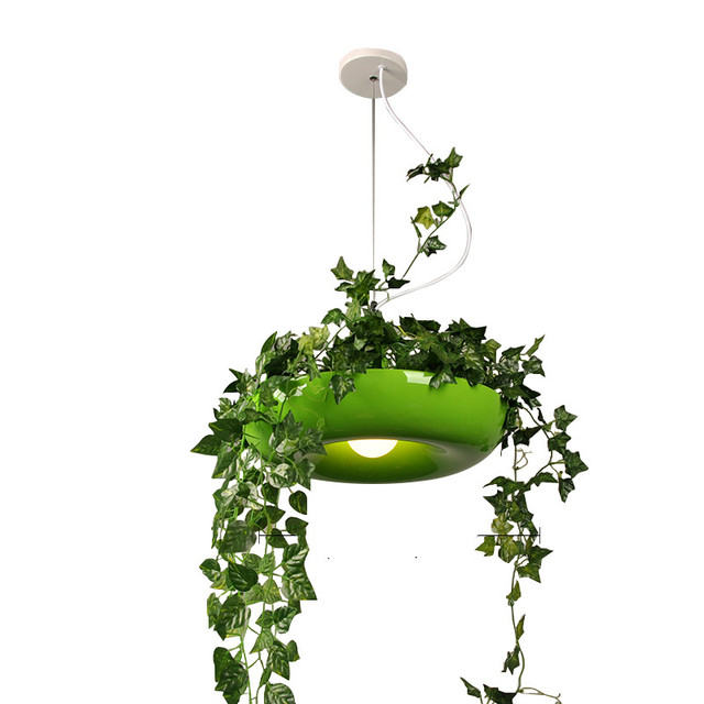 Modern Pendant Light LED Hanging Gardens Plants Lamp Pots Potted luminaire Home Lighting Kitchen light Fixtures