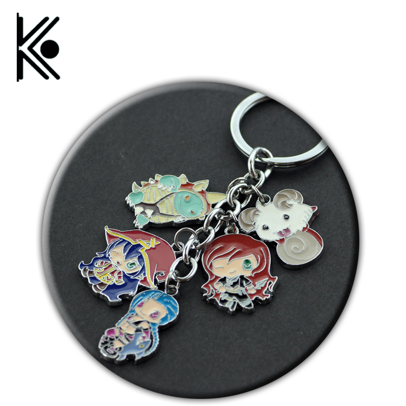 wholesale League of Legends lol Keychain Weapon Model Keychain Jinx Katarina lulu Rammus accessories keyring gift of fans цена и фото