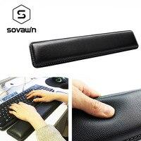 Sovawin Кожаная клавиатура подставка для запястья Pad Gamer PC Handguard удобный эргономичный игровой большой коврик 45*8,5*1,8 см для компьютера