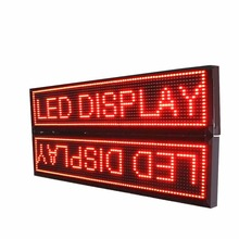 104*40cm P10 Outdoor double sided Red LED Display Board,Use waterproof LED module and WIFI Programmable scrolling messages sign