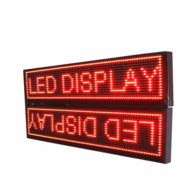 P10  Outdoor double sided Red LED Display Sign Board,Use P10 led waterproof module and LAN programmable