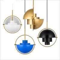Nordic Metal złoty wisiorek światła Globe wiszące lampy do kuchni oświetlenie do salonu oprawa oświetlenie domu w Wiszące lampki od Lampy i oświetlenie na