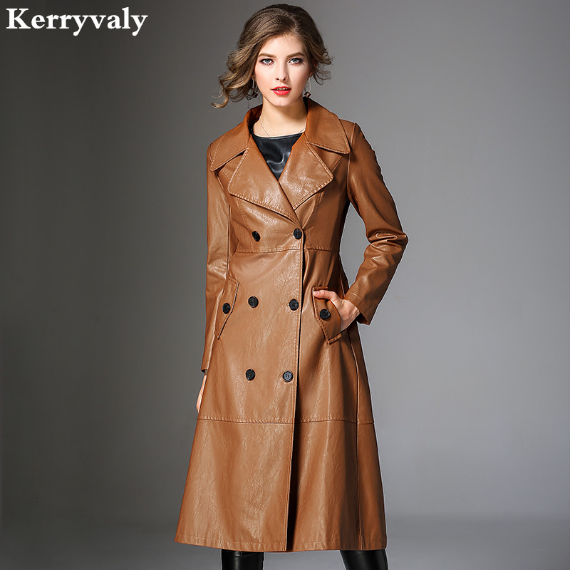Winter Windbreaker 3XL Pu Caramel Jacket Abrigos Mujer Invierno 2018 Women Long Coat Casaco Feminino Inverno K6668 womens winter jackets and coats winter jacket women coat manteau femme thickened long casaco feminino inverno abrigos 001
