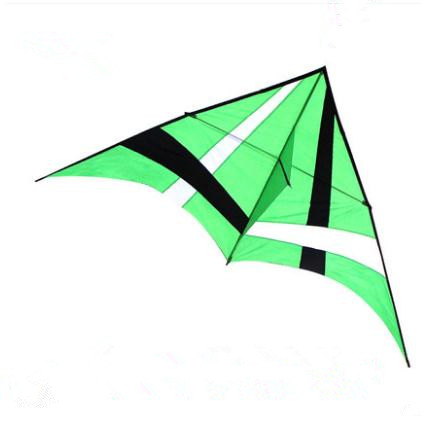 NEW ARRIVE OUTDOOR FUN SPORTS 2.8M POWER BEAUTIFUL GREEN/BLUE DELTA KITE WITH HANDLE /STRING EASY TO FLY