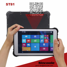 4G LTE intel z8300 4GB 64GB windows 10 pro 2D barcode rugged smart tablet