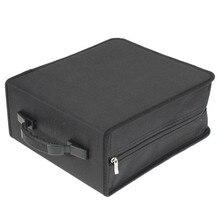 Портативный 320 шт CD DVD Dics чехол для хранения медиа чехол для переноски жесткий чехол держатель для кошелька коробка с застежкой-молнией универсальные черные рукава