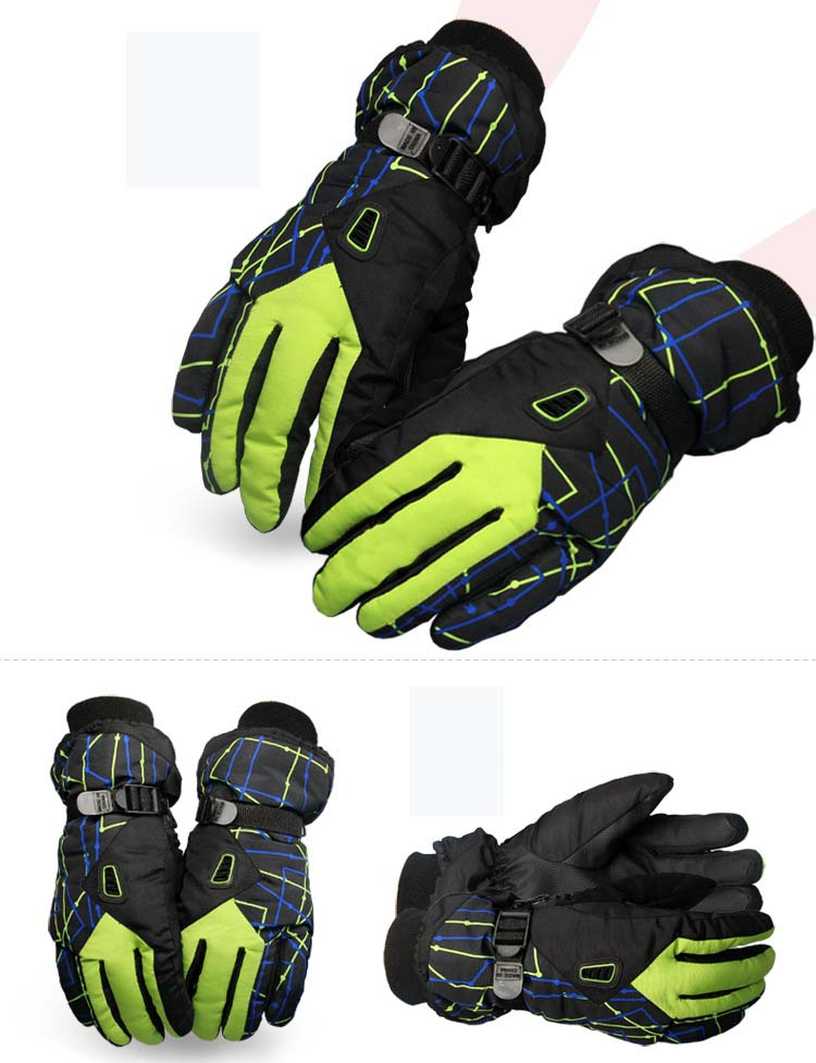GLV866 men and women Outdoor thermal ski font b gloves b font Thickening fleece antiskid cycling