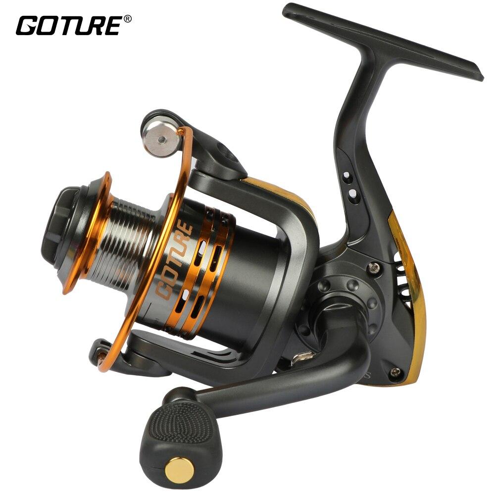 Goture Métal Spool Spinning Reel Fishing 6BB Roue Supérieure pour Eau Douce Eau Salée De Pêche 500 1000-6000 Série