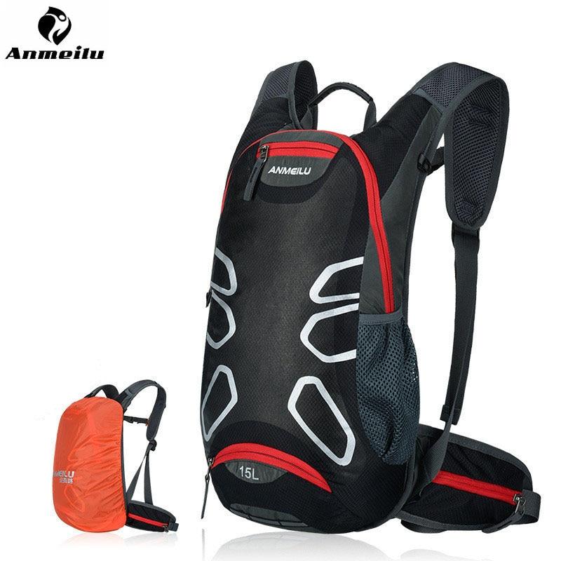 anmeilu ciclismo respiravel mochila saco da motocicleta saco ciclismo capacete a prova dwaterproof agua com capa