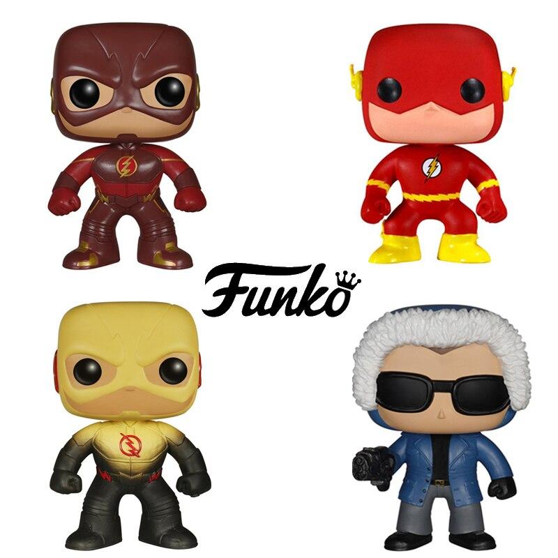 New Funko pop Official <font><b>TV</b></font> The <font><b>Flash</b></font> <font><b>Reverse</b></font> FlasSuper Hero <font><b>Action</b></font> <font><b>Figure</b></font> key Doll Collectible Kids Model Toy with Original box
