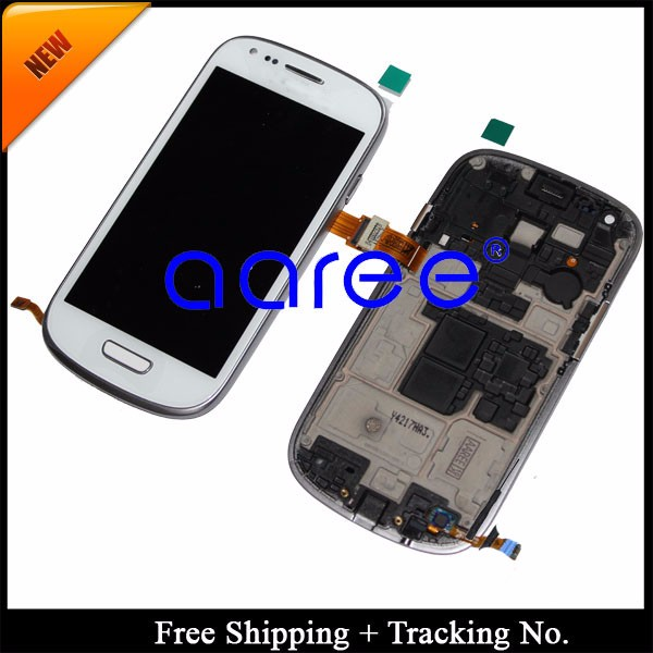 For Samsung Galaxy S3 mini i8190 LCD Screen Assembly With Frame -White