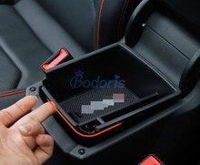 Стайлинга автомобилей Организатор подлокотник ящик для хранения перчаток Контейнер Чехол 2016 2017 2018 для Volkswagen VW Tiguan интимные аксессуары