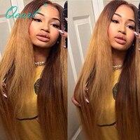 Ombre TWO Tone Blond Lijmloze Lace Front Pruik 130% Dichtheid Lace voor Menselijk Haar Pruik met Baby Haar Pre Geplukt Remy Haar