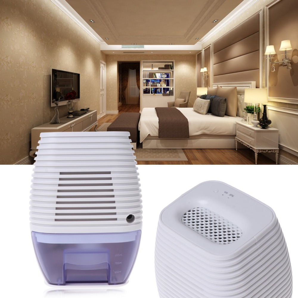 Mini Portable USB Dehumidifier 300ml Moisture EU Plug Absorbing Electric Air Dryer Home
