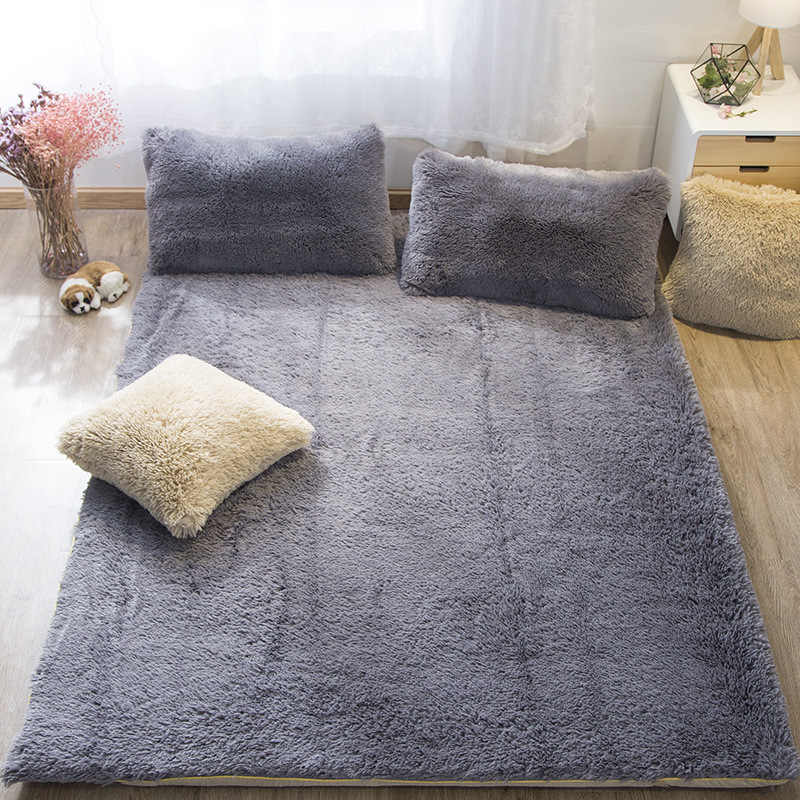 2018 Foldable Plush Mattress Thickening Coral velvet Tatami Soft Super Warm Fleece Cushion Dormitory Hotel Winter Bed Mat