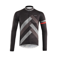 ARSUXEO Full Zipper Cycling Jersey with Back Reflective Stripe Men Breathable Long Sleeve Bicycle Clothing Shirts MTB Clothing цена 2017