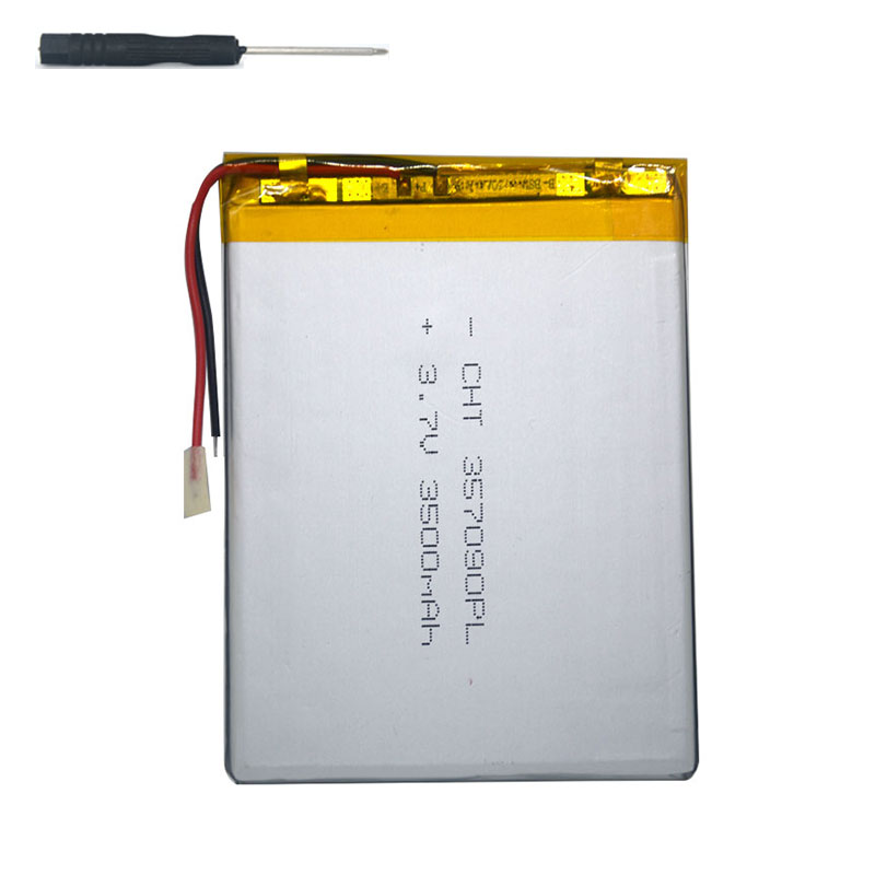 7 inch tablet universal battery pack 3.7v 3500mAh polymer lithium Battery for Digma Plane <font><b>7580S</b></font> 4G +screwdriver image