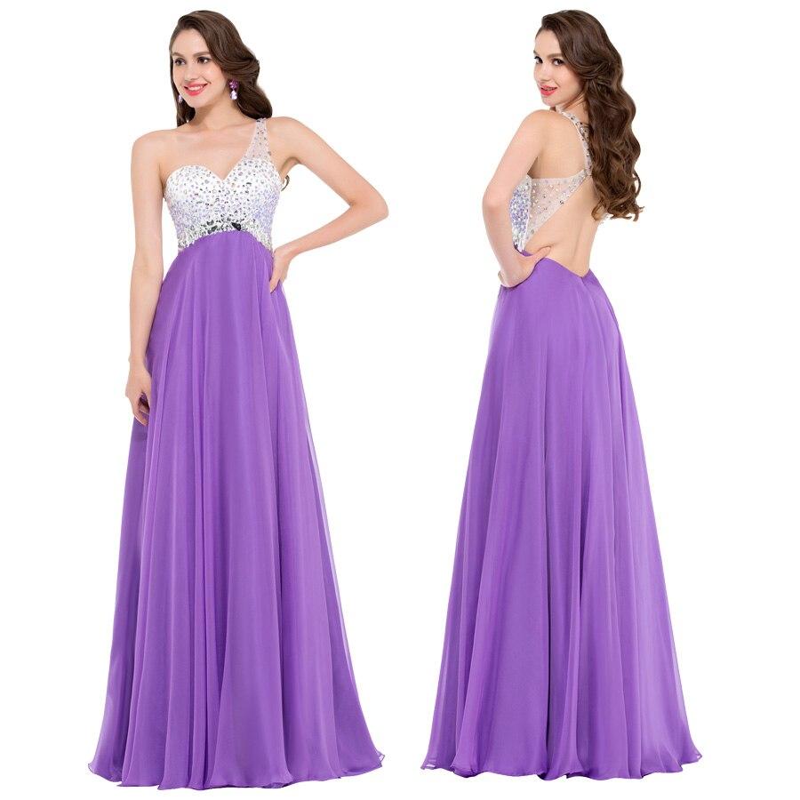 Images of Purple Long Prom Dresses - Reikian
