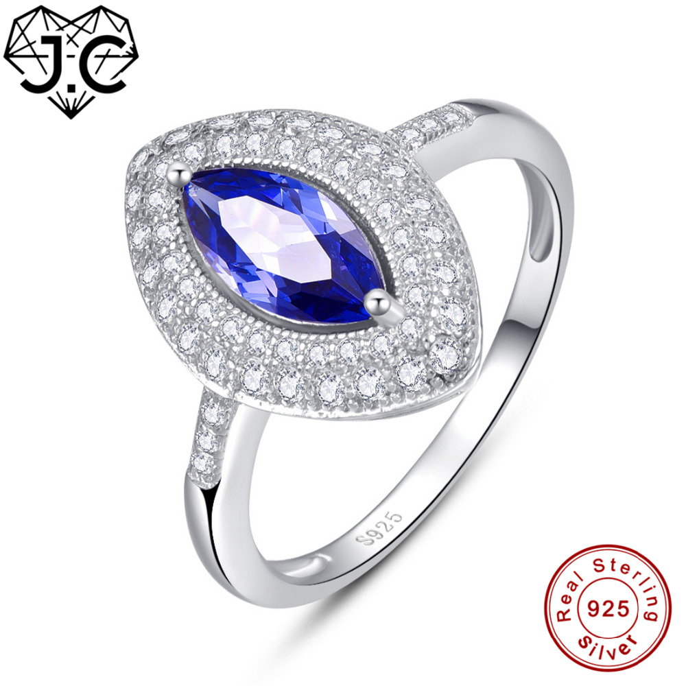 J.C Marquise Cut Amethyst & Tanzanite White Topaz 925 Sterling Silver Ring Size 6 7 8 9 Luxury Wedding Bands Women Fine JewelryJ.C Marquise Cut Amethyst & Tanzanite White Topaz 925 Sterling Silver Ring Size 6 7 8 9 Luxury Wedding Bands Women Fine Jewelry