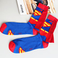 Primavera Otoño 1 pair 100% calcetines de la historieta de Superman de la alta calidad de algodón nueva moda hombre casual medias muchacho meias