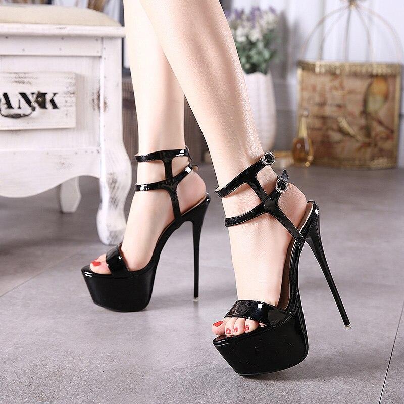 Fashion Summer Women High Heels Sandals 16cm Sexy Stripper Shoes ...