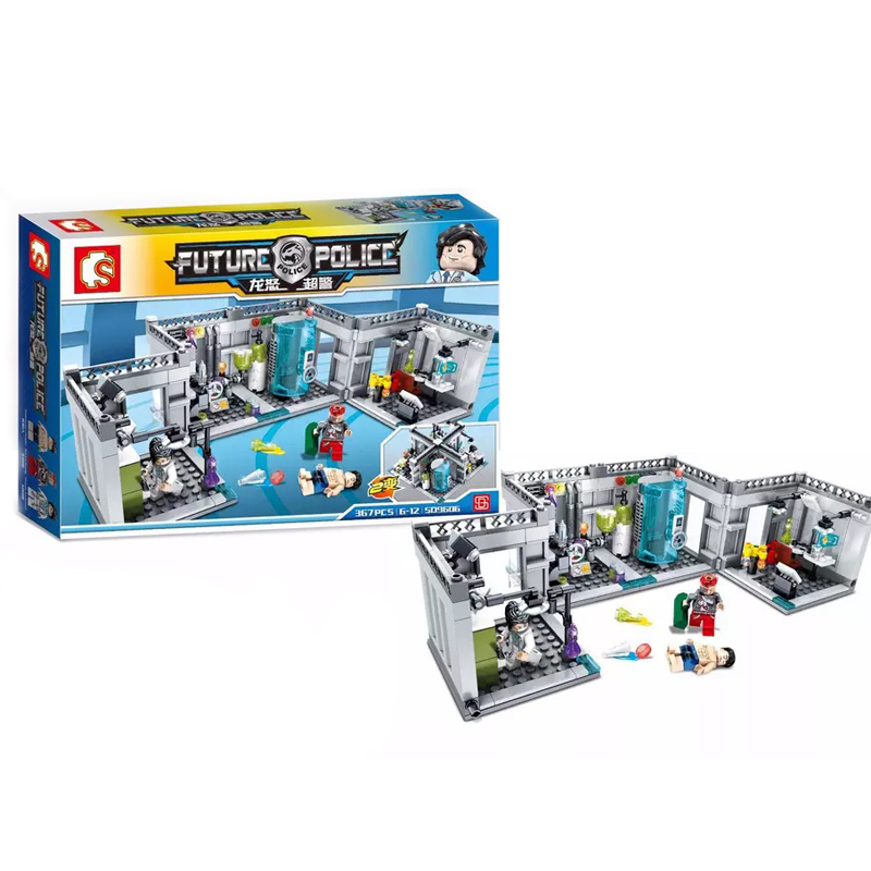 New 367pcs Movie Super Secret Police Biochemical laboratory Model Building Kits Blocks Bricks Compatible Toys For Children Gift