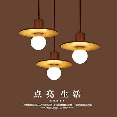 diy simple color plastic droplight modern led pendant light fixtures for dining room bar hanging lamp indoor lighting American Creative Wooden Droplight Modern LED Pendant Light Fixtures For Dining Room Simple Hanging Lamp Indoor Lighting
