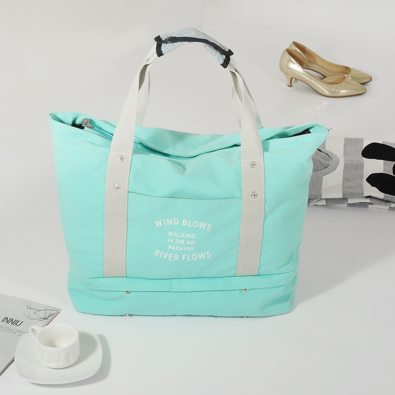 verão folding viajar tote bolsa Pattern : Letter Bag