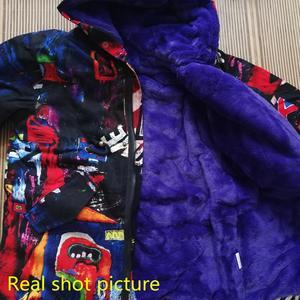 Image 5 -  30度2020新ガール服ロングが詰め服冬ジャケット子供暖かい厚みのフード付きフェイクファーコートティーン生き抜くパーカー