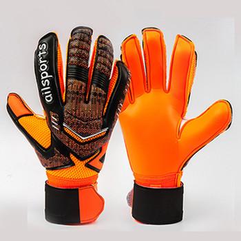Mężczyźni dzieci profesjonalne piłkarskie rękawice bramkarskie miękkie pełne lateksowe poślizg silna ochrona piłka nożna rękawice bramkarskie 5 Finger Save tanie i dobre opinie NoEnName_Null 882 soccer gloves Foam latex Polyester pu