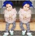 Девушки верхняя одежда дети младенческой девушка жилет зимняя мода жилет ребенок винкс casacos infantis menina шерстяной жилет выстроились Теплое пальто