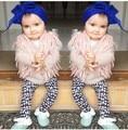 Meninas outerwear crianças infantil inverno colete menina colete moda bebê criança winx casacos infantis de menina casaco colete de lã Quente forrado