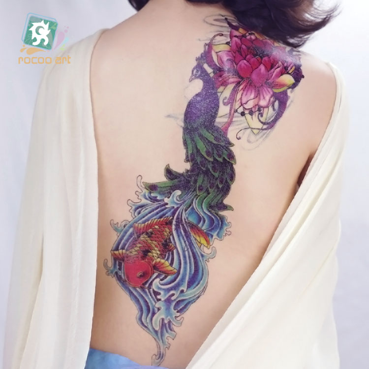 Ac 001beauty Super Big Full Arm Back Temporary Body Tattoo Stickers