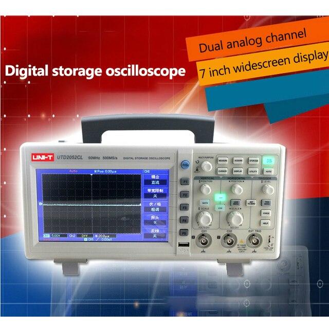 Special Offers 50Mhz 500Ms/s Digital Oscilloscope Digital PC USB Oscilloscopes 7 inch LCD Dual Channel USB oscilloscope Data Storage Scopemeter