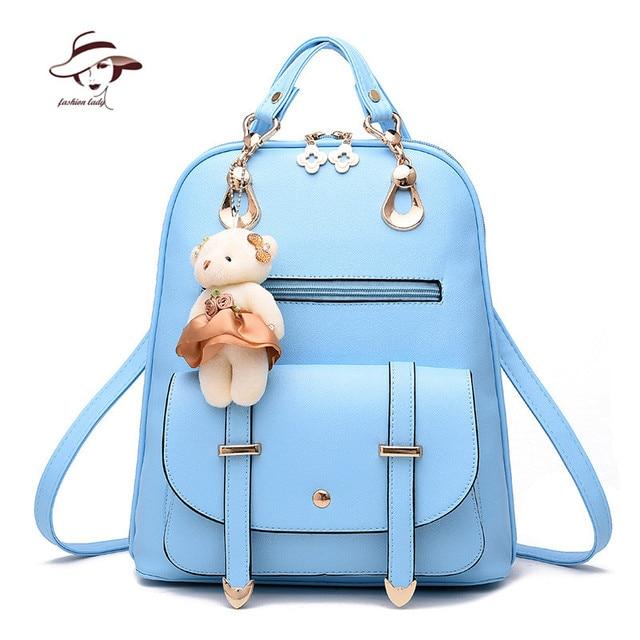 f20ca3335396 New Fashion Women Backpacks Women s PU Leather Backpacks Girl School Bag  Ladies Bags Designer Women Backpack High Quality Bolsas