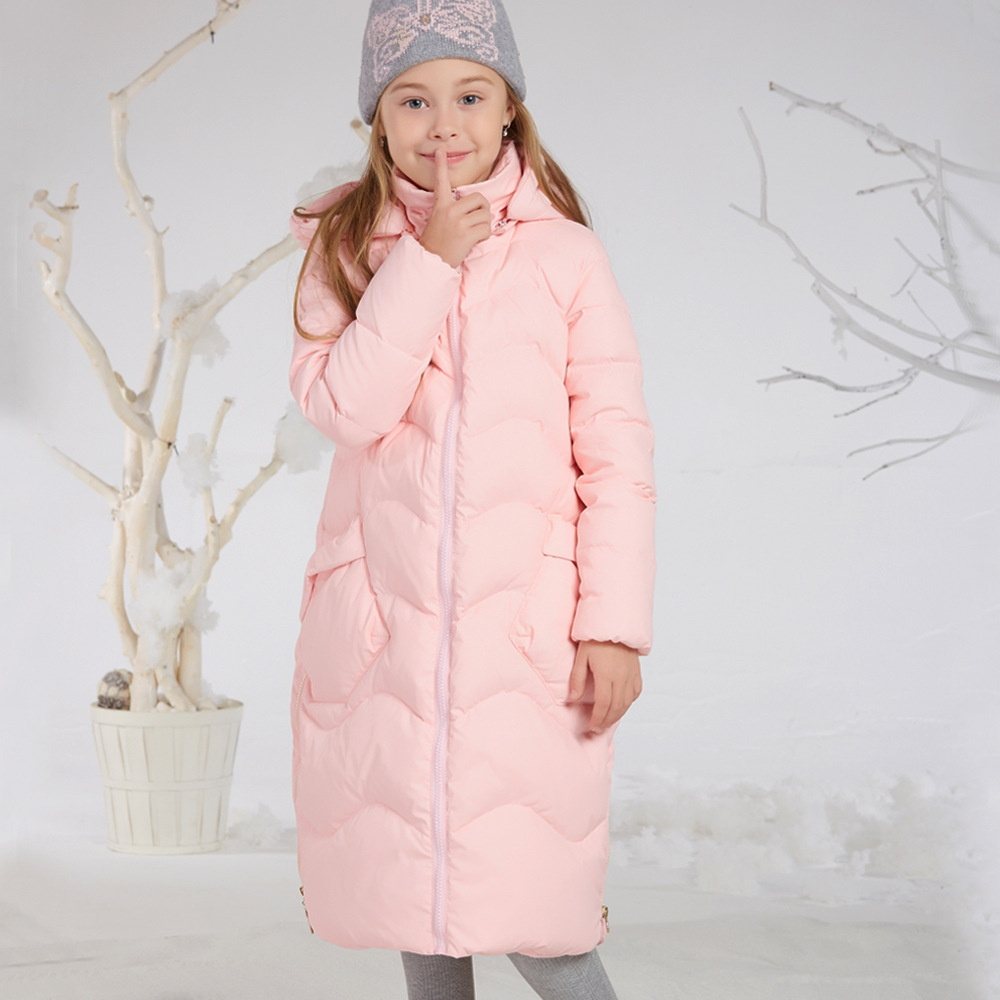 Princess Kids Girls Winter Jackets and Coats 80% White Duck Down Warm Thick Hooded Long Down Coats For Teenage Girl Clothes 6-14 fashion girls winter white duck down jackets and coats children faux fur hooded long coat kids girl thick warm jacket 2017