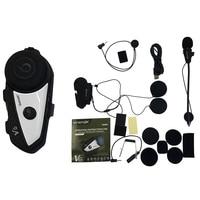 V6 Bt Walkie Talkie Motorcycle Helmet Headset Multi Function Stereo Walkie Talkie While Pairing 2 Different Bluetooth High Fid