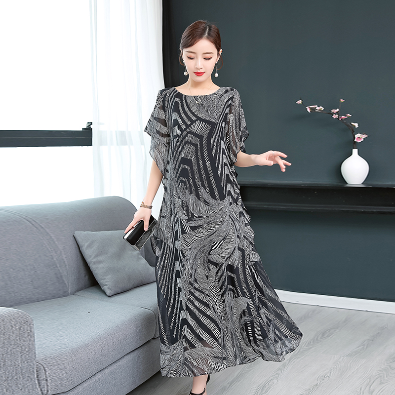Women's Clothing ... Dresses ... 32803289690 ... 2 ... 2020 Fashion Imitation Silk High Quality Summer Women Dress  Printed Retro Dress Chinese Style Loose Casual Sleeveless Plus Size ...