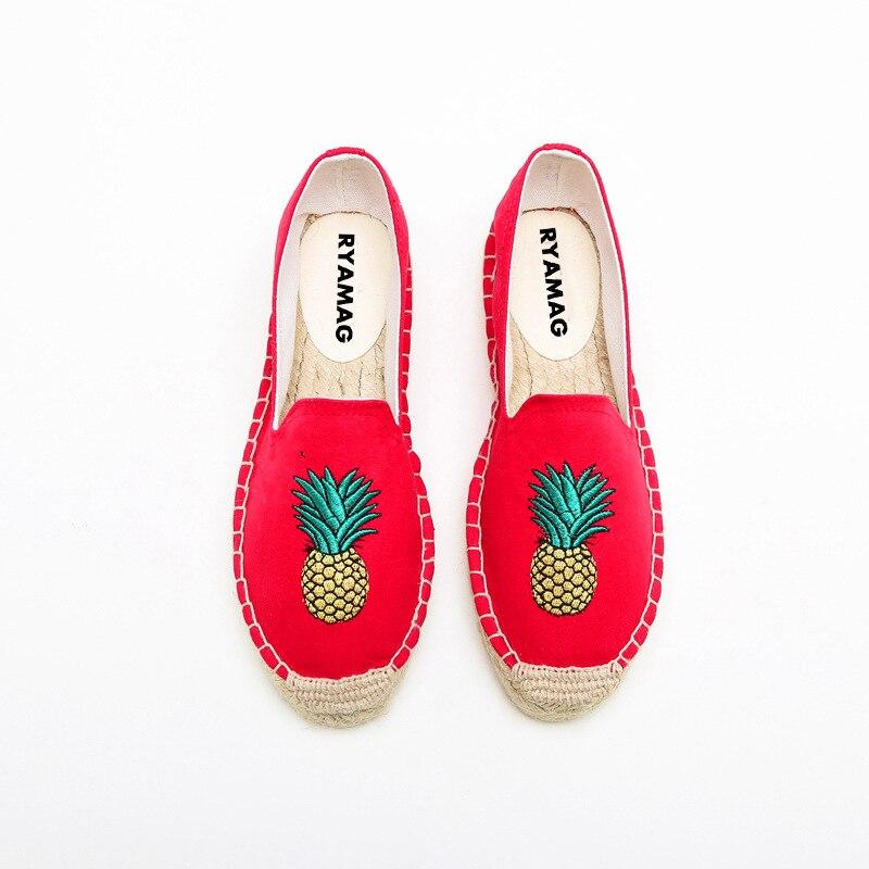 Espadrilles Femmes Sur Coton Le Esapdrilles Plates Platformcanvas Cerise 2017 De Respirant À rouge Mocassins Bleu Glissement Chaussures Lin Casual Coudre BzdnPx