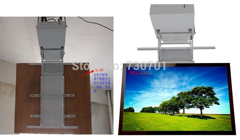 Motorized electric hidden flip down false ceiling led lcd for Motorized flip down tv mount