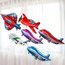 1pcs Cartoon Plane Balloons Birthday Party Decorations Kids