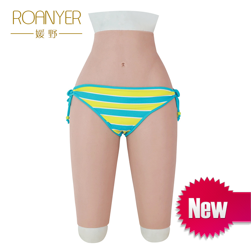 Roanyer silicone crossdresser falso calças cueca de látex para transsexual drag queen artificial vagina Transgêneros falso buceta